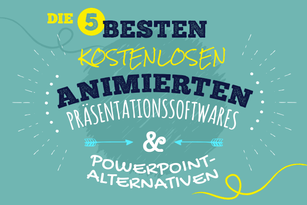 best free animated presentation software text image