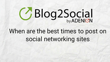 Blog2Social (Scheduling App Training)