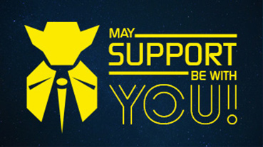 May Support Be With You!