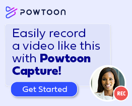 easily record a video like this with powtoon capture